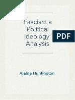 Fascism a Political Ideology