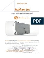 Waste Water Treatment Services | Shubham India