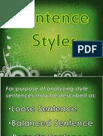 Sentence Styles