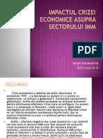 Impactul Crizei Economice Asupra Sectorului Imm