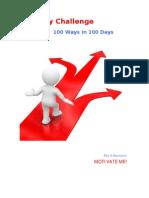 The 100 Days Challenge - 100 Ways in 100 Days