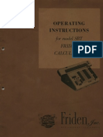 Friden SBT Operating Instructions 1959 (English)