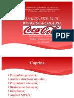Analiza Site Coca-cola