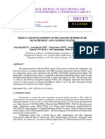 Design and Development of Fpga Based Temperature Measurement and Control