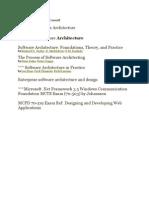 Software Architecture Book List