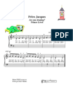 Frere Jacques Are You Sleeping Easy Piano