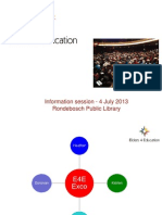 e4e - info - session - rondebosch - 4-july 2013