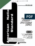ANSI C80.1 Rigid Steel Conduit for Zinc Coated