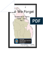 61 Year Tamil Massacre in Sri Lanka