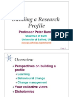 Building Your Research Profile [2012]