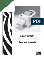 Manual Zebra GC420d