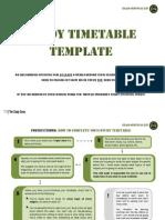 [TSG] Study Timetable Template