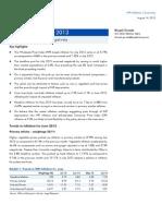 WPI Inflation, July 2013