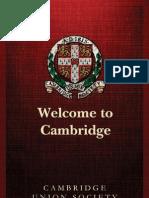 Cambridge Union Society Freshers' Guide 2013