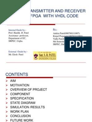 RS-232 FPGA based transmitter and receiver using VHDL code | Vhdl
