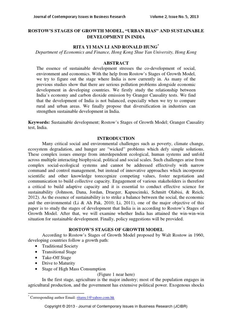 rostows development model