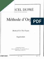 Dupre, Marcel - Method for the Organ