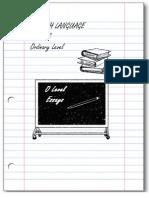 English Language Essays for O Level