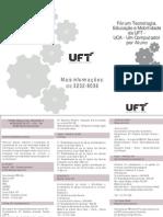 377 - I Fórum deTecnologia e Educação de UFT - folder