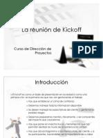 Gestión de proyectos Reunión de kick off