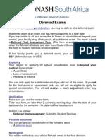 Deferred Exams