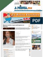 13-08-2013 Mujeres tendrán mayor participacion en Reynosa