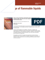 The Storage of Flammable Liquids in Tanks