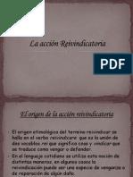 La acci+¦n Reivindicatoria 1