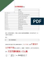 KSSR一年级生字附录表