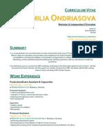CV Emilia Ondriasova Word Form
