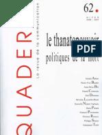 Le Thanatopouvoir_politiques de La Mort