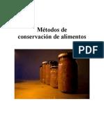 Métodos de conservacion de aliementos