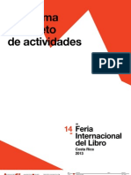 Programa Completo de Actividades. Feria Internacional del Libro de Costa Rica