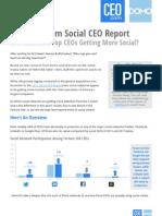 2013 Social CEO Report Final
