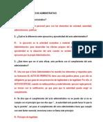 Cuestionario Derecho Administrativo Para Segundo Parcial