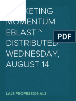 Marketing Momentum eBlast Distributed Wednesday, August 14