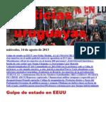 Noticias Uruguayas miércoles 14 de agosto del 2014