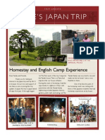 Japan Trip Update Newsletter
