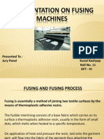 A Presentation on Fusing Machines