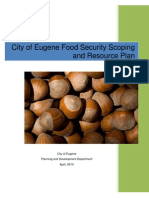 Food Security Resource and Scoping Plan