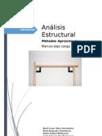 Análisis aproximado de un marco rígido bajo carga vertical