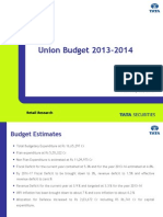 Union Budget 2013-2014 - Highlights