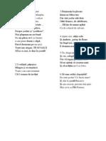 Poezii Clasa I
