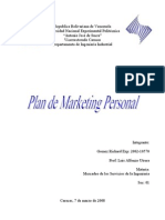 Plan de Marketing Personal