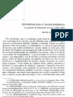 Fenomenologia e Transcendencia