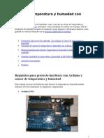 Obtener Temperatura y Humedad Con Arduino