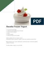 Receita Frozen Yogurt