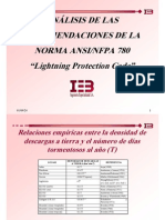 Analisis Norma NFPA-780