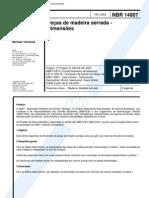 NBR 14807 - Pecas de Madeira Serrada - Dimensoes