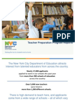NYCDOETeacherPreparationProgramPresentation August 2013